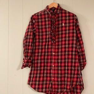 Ralph Lauren Flannel Plaid Dress